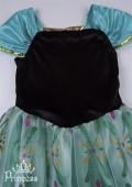 Фото: Платье Анны из Фрозен с узором из блёсток (артикул 3004-green) - изображение