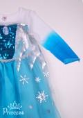Фото: Детский костюм Эльзы Холодное сердце  (артикул 3061-blue) - изображение