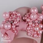 Фото: Балетки с бусинами (артикул 1010-light pink) - изображение