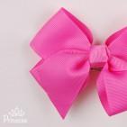 Фото: Ярко-розовый бант-заколка (артикул 1013-pink) - изображение