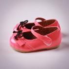 Фото: Туфельки с бантиками (артикул Sh 10027-pink) - изображение