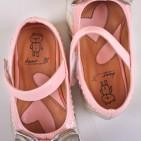 Фото: Туфли с блестящими бантиками (артикул Sh 10006-pink) - изображение