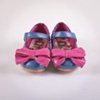 Фото: Туфли с бантиками (артикул Sh 10007-blue) - изображение