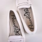 Фото: Туфельки детские белого цвета (артикул Sh 10010-white) - изображение