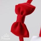 Фото: Ободок для волос красного цвета (артикул 1012-red) - изображение