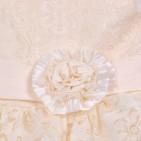 Фото: Праздничное детское платье с ажурным верхом и пышной юбкой (артикул 3073-light beige) - изображение