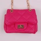 Фото: Стеганая сумочка для девочки розовая (артикул A 30017-pink) - изображение