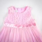 Фото: Детское платье Jacadi с кружевом на груди (артикул O 50163-pink) - изображение