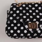 Фото: Детская сумочка в горошек (артикул A 30017-black-white) - изображение