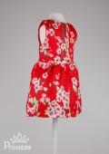 Фото: Детское платье с принтом сакуры (артикул O 50258-flowers) - изображение