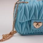 Фото: Сумочка голубого цвета (артикул A 30066-light blue) - изображение