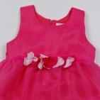 Фото: Детское платье Place с цветами на поясе (артикул O 50231-pink) - изображение