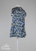 Фото: Place. Оригинальное детское платье в цветочек с белым воротником (артикул O 50187-flowers) - изображение