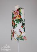 Фото: Детское платье в стиле D&G (артикул O 50254-flowers) - изображение
