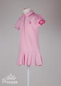 Фото: Ralph Lauren.Детское платье Polo с плиссированной  юбкой (артикул RL 50002-light pink) - изображение