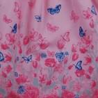 Фото: Красивое детское платье Zara с бабочками и цветами (артикул Z 50171-light pink) - изображение