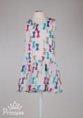 Фото: Платье Jacadi для девочки с цветными бантиками (артикул O 50213-colored) - изображение