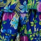 Фото: Детский сарафан Place c юбкой в рюшах (артикул O 50219-blue) - изображение