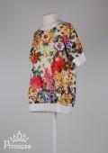 Фото: Платье-туника для девочки с принтом в цветочек (артикул O 50246-flowers) - изображение