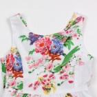 Фото: Zara. Детское платье с вырезом на спине (артикул Z 50159-flowers) - изображение