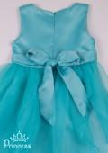 Фото: Праздничное детское платье модного цвета мяты (артикул 3075-mint) - изображение