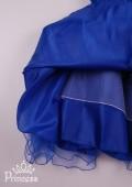 Фото: Платье с лифом в пайетках и бантиком (артикул 3087-blue) - изображение