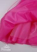 Фото: Яркое малиновое детское платье с пышной многослойной юбкой (артикул 3087-pink) - изображение