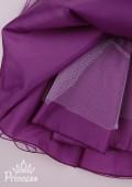 Фото: Нарядное фиолетовое платье с пышной юбкой из фатина (артикул 3087-violet) - изображение