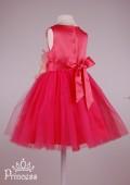 Фото: Красивое детское платье с крупным цветком на поясе (артикул 3096-coral) - изображение