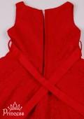 Фото: Ажурное платье алого цвета для юной леди (артикул 3102-red) - изображение