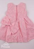 Фото: Нарядное платье для девочки изумительно-нежного персикового цвета из кружева (артикул 3100-light pink) - изображение