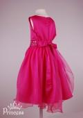 Фото: Красивое детское платье малинового цвета (артикул 3075-pink) - изображение