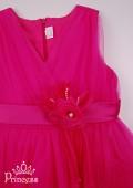 Фото: Нарядное детское платье цвета фуксии (артикул 3089-pink) - изображение