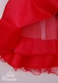 Фото: Яркое красное платье для юной леди с пышной юбкой из нежного фатина (артикул 3077-red1) - изображение