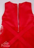 Фото: Ярко-красное детское платье с пышной юбкой (артикул 3077-red) - изображение