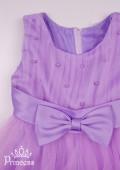 Фото: Сиреневое детское платье с пышными оборками из фатина (артикул 3077-violet) - изображение