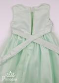 Фото: Нежно-зеленое детское платье с лифом в пайетках (артикул 3074-light green) - изображение