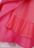 Фото: Оригинальное платье для девочки с шифоновым шлейфом на левом плече (артикул 3055-coral) - изображение
