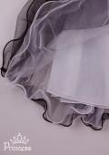 Фото: Праздничное платье для девочки с воздушной фатиновой юбкой (артикул 3104-grey) - изображение