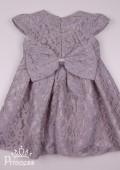 Фото: Красивое платье для девочки из кружева (артикул 3100-grey) - изображение