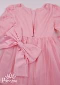 Фото: Нарядное платье для девочки светло-розового цвета (артикул 3086-light pink) - изображение