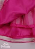 Фото: Нарядное полосатое платье для девочки с пышной юбкой (артикул 3094-pink) - изображение