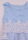 Фото: Нарядное платье для девочки небесного цвета (артикул 3105-light blue) - изображение