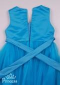Фото: Праздничное платье для юной леди небесного цвета из фатина (артикул 3089-blue) - изображение