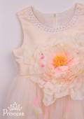 Фото: Красивое детское платье нежного цвета (артикул 3096-beige) - изображение