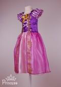 Фото: Красивый костюм Рапунцель для девочки (артикул 3109-pink-violet) - изображение