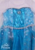 Фото: Новогоднее платье для девочки в стиле Frozen (артикул 3081-blue) - изображение