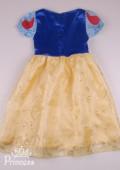 Фото: Праздничный костюм Белоснежки для девочки  (артикул 3107-blue-yellow) - изображение