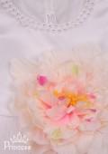 Фото: Праздничное детское платье белого цвета (артикул 3096-white) - изображение