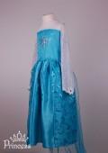 Фото: Костюм Эльзы для девочки со звездой на груди и шлейфом (артикул 3114-light blue) - изображение